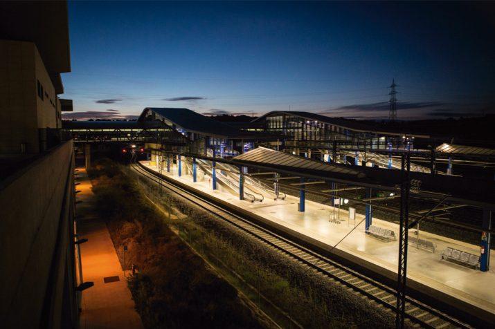 Estació de l'AVE a La Secuita. Paradigma de la falta d'unitat al Camp de Tarragona. Foto: DAVID OLIETE