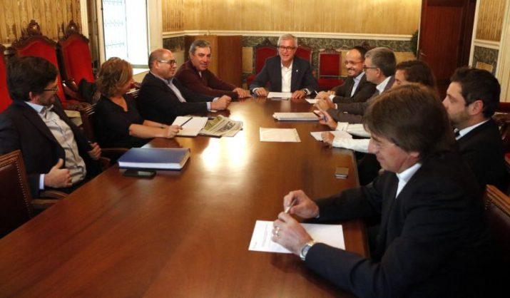 Reunió de la junta de portaveus d'aquest dilluns a l'ajuntament de Tarragona. Foto: ACN