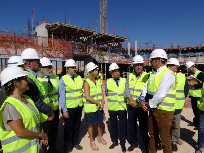 Visita d'obres de la consellera Neus Munté a les insta·laccions de Tarragona 2017. La Generalitat -a diferència de l'Estat- està complint amb els compromisos econòmics amb els Jocs Mediterranis. Foto: TARRAGONA 2017