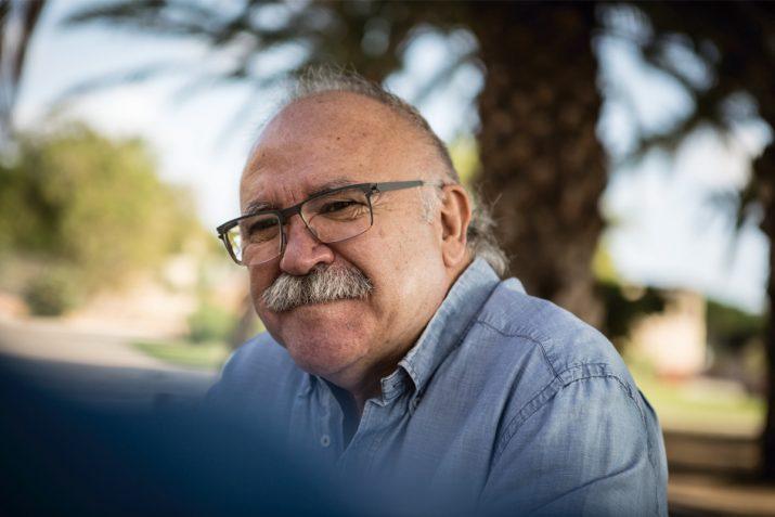 Josep-Lluís Carod-Rovira, en un moment de l'entrevista amb el FET a TARRAGONA. Foto: DAVID OLIETE