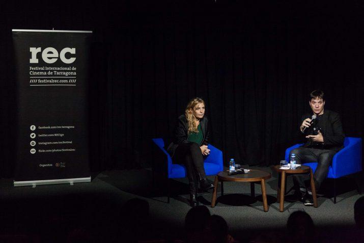 Maria Ripoll durant la xerrada d'ahir al vespre. Foto: Jaime Rojas