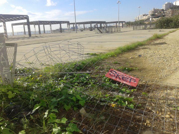 La plataforma del Miracle, tancada des de fa més de tres anys, es continua degradant, víctima d'accions vandàliques. Foto: RICARD LAHOZ